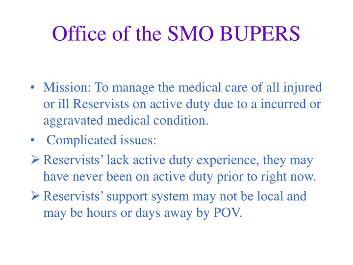 Office of the SMO BUPERS