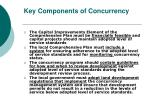 key components of concurrency