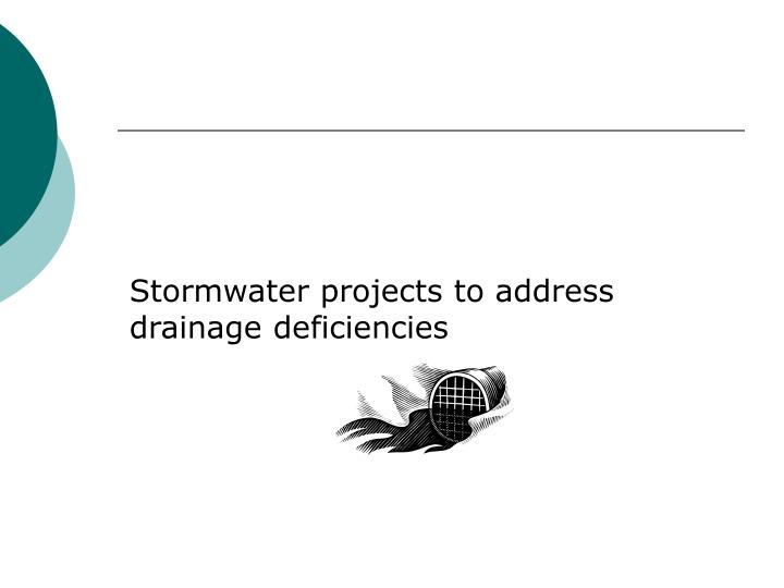 Stormwater projects to address