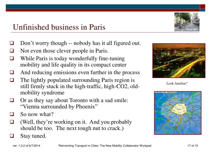 Unfinished business in Paris