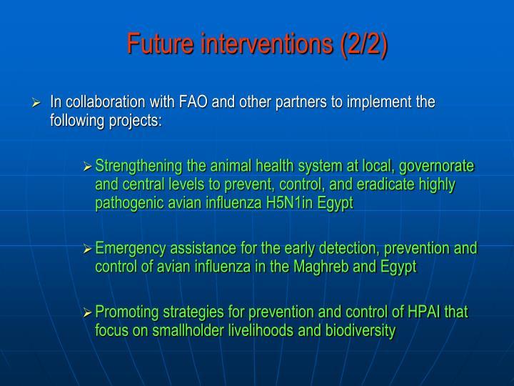 Future interventions (2/2)