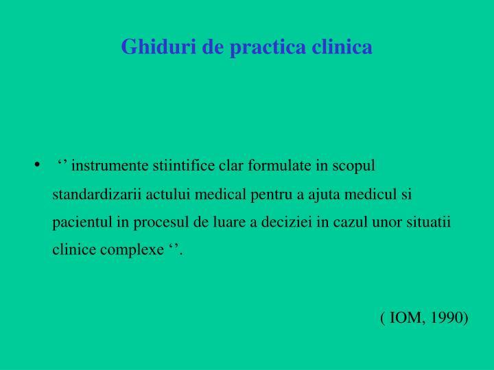 Ghiduri de practica clinica