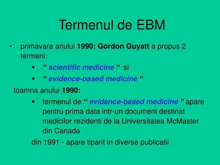Termenul de EBM
