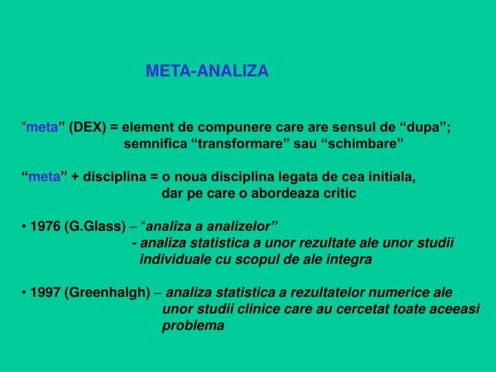 META-ANALIZA