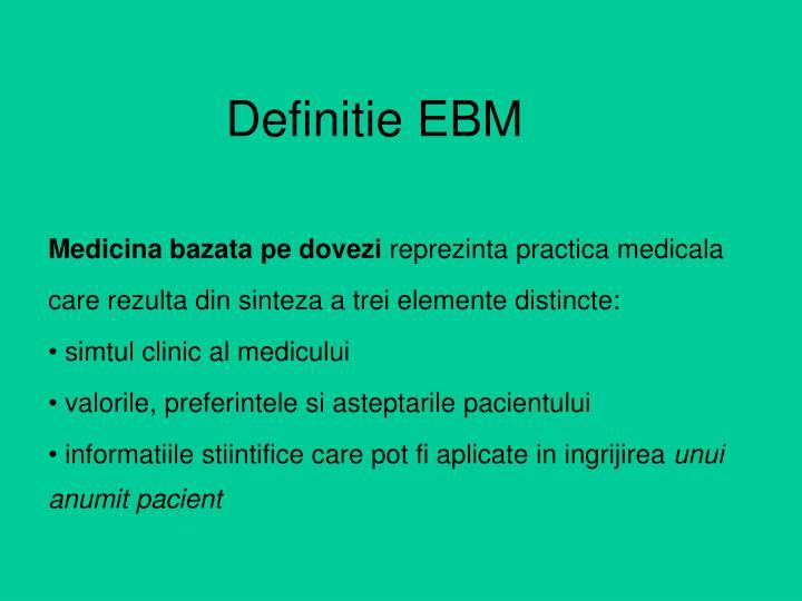 Definitie EBM