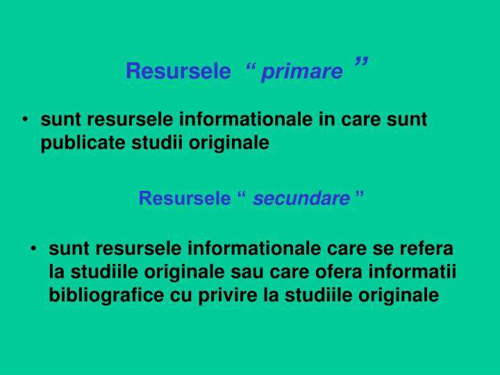 Resursele