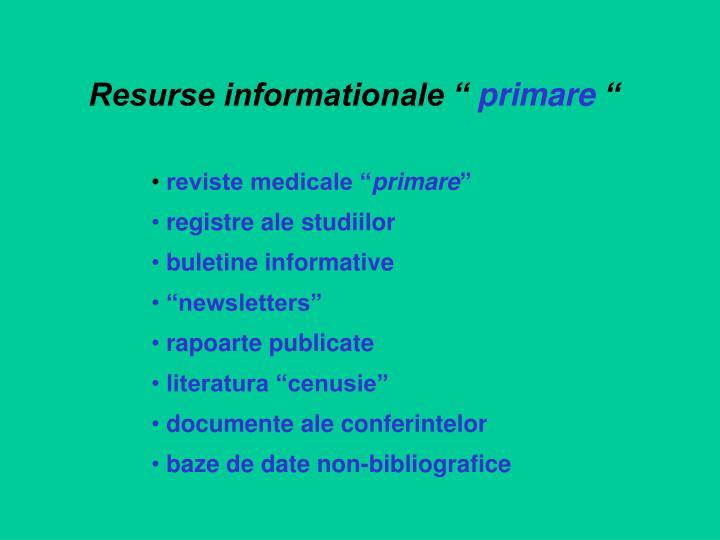 "Resurse informationale """