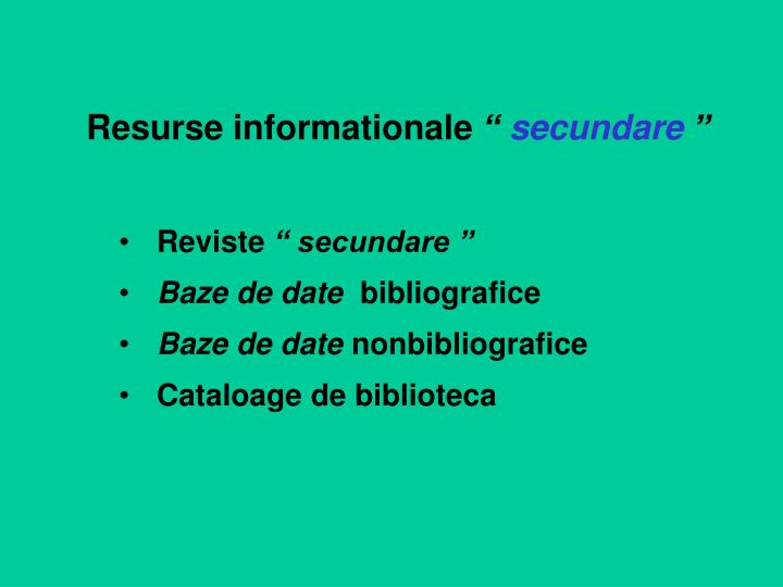 Resurse informationale