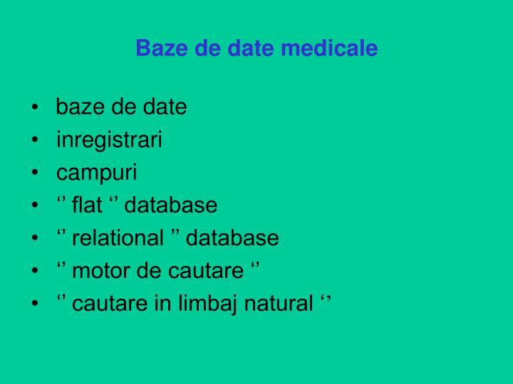 Baze de date medicale