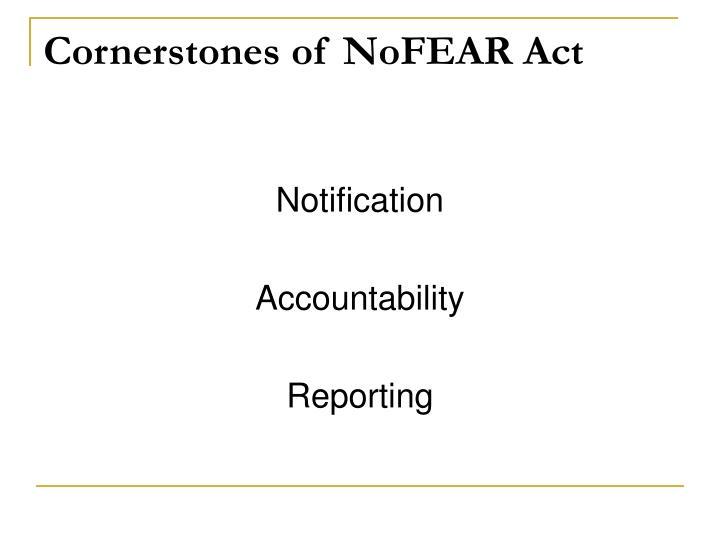Cornerstones of NoFEAR Act