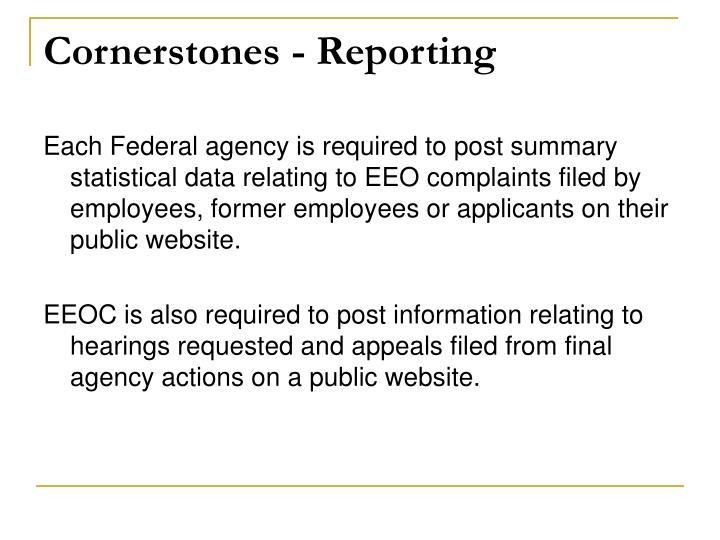 Cornerstones - Reporting