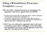 filing a whistleblower protection complaint continued1