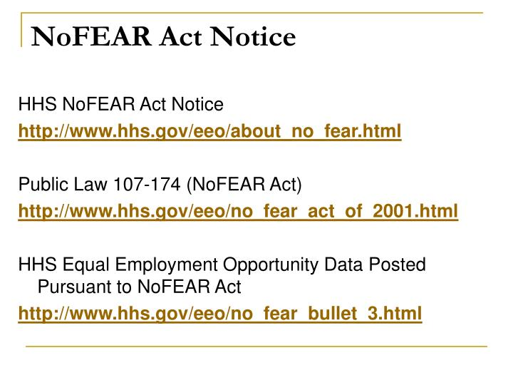 NoFEAR Act Notice