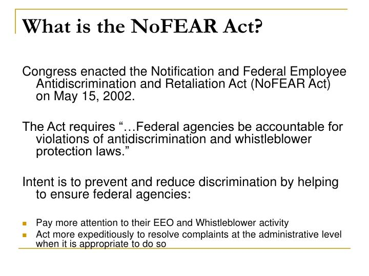 What is the NoFEAR Act?