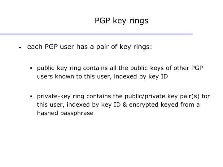 PGP key rings