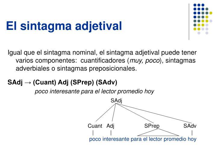 El sintagma adjetival