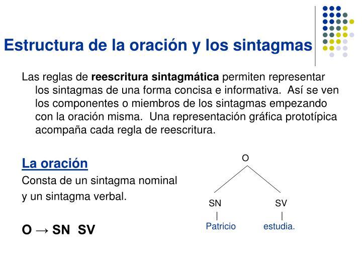 Estructura de la oración y los sintagmas