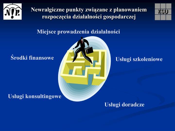 Newralgiczne punkty związane z planowaniem rozpoczęcia działalności gospodarczej