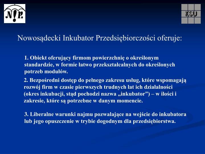 Nowosądecki Inkubator Przedsiębiorczości oferuje: