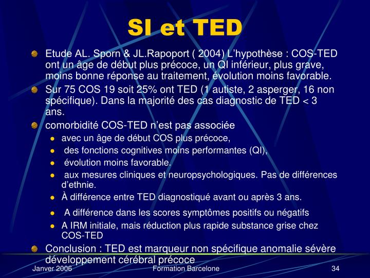 SI et TED