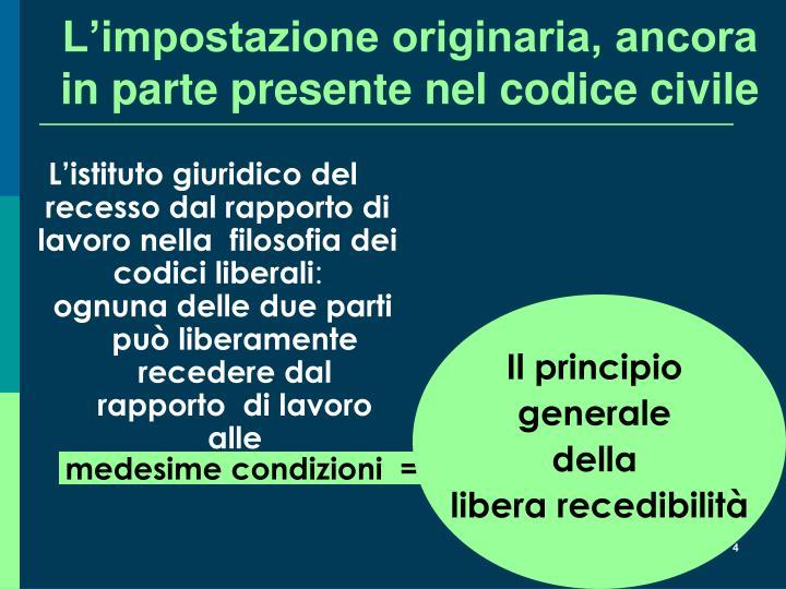 L'istituto giuridico del recesso dal rapporto di lavoro nella  filosofia dei codici liberali