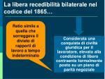 la libera recedibilit bilaterale nel codice del 1865