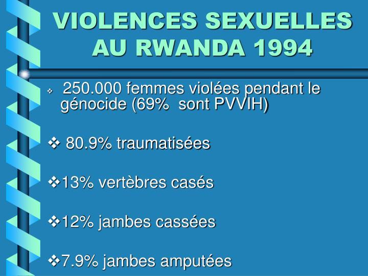 VIOLENCES SEXUELLES AU RWANDA 1994