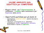 valore aggiunto della didattica per competenze