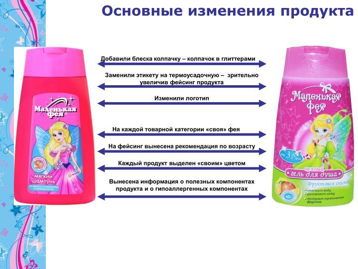 Основные изменения продукта