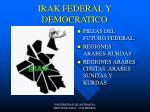 irak federal y democratico