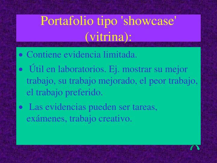 Portafolio tipo 'showcase' (vitrina):