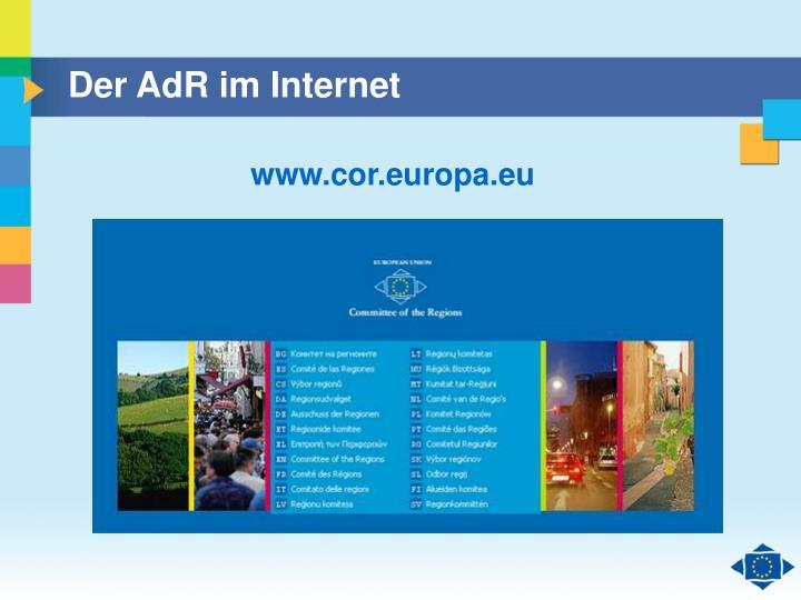 Der AdR im Internet