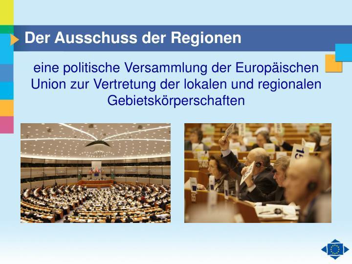 Der Ausschuss der Regionen