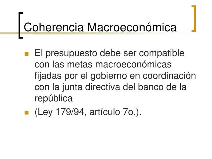 Coherencia Macroeconómica