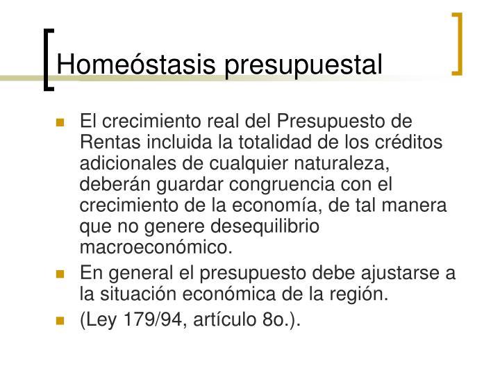 Homeóstasis presupuestal