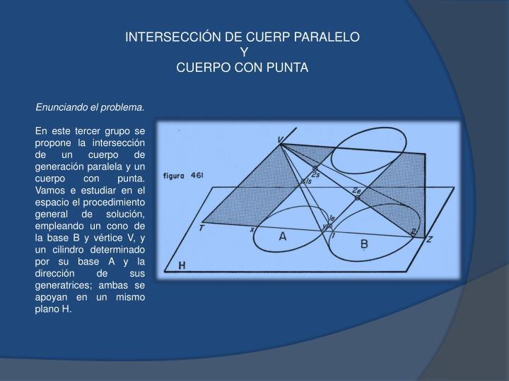 INTERSECCIÓN DE CUERP PARALELO