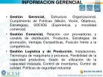 informacion gerencial