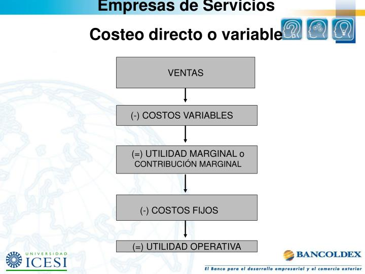 Empresas de Servicios