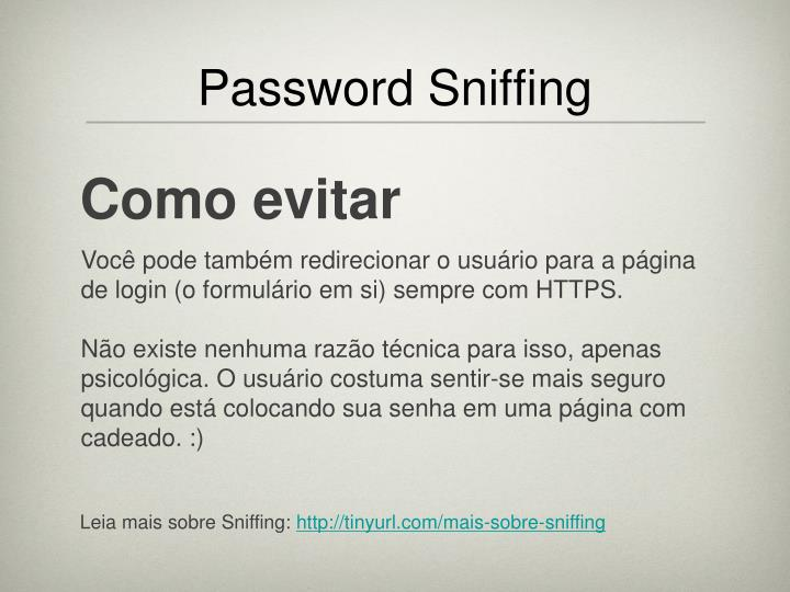 Password Sniffing