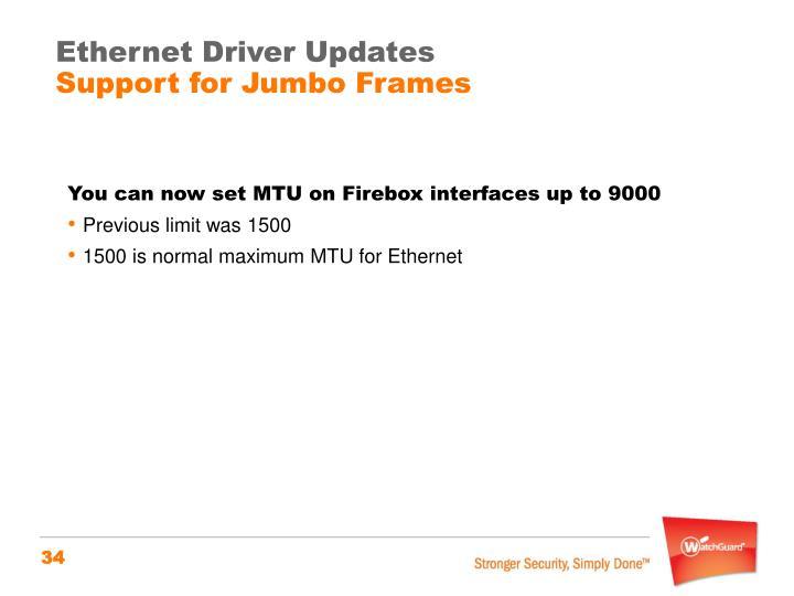 Ethernet Driver Updates