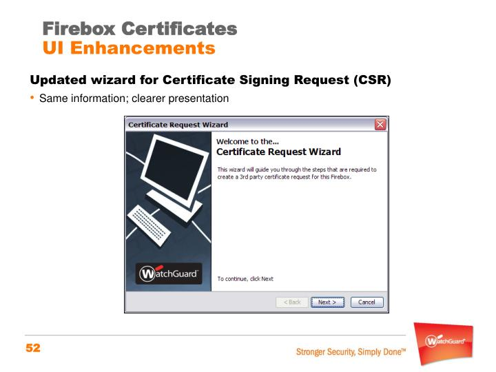 Firebox Certificates