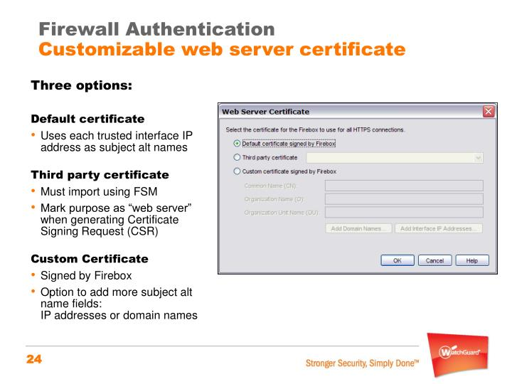 Firewall Authentication