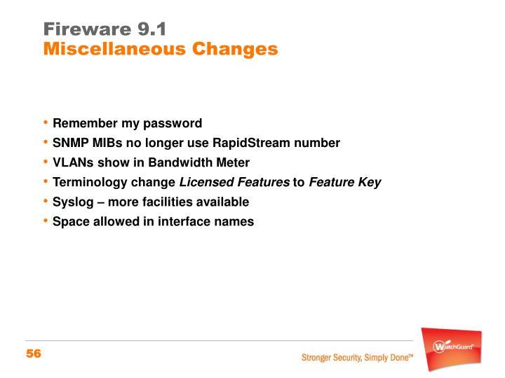 Fireware 9.1