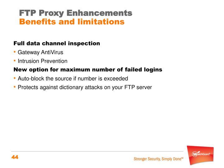 FTP Proxy Enhancements