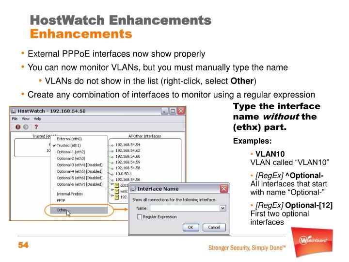 HostWatch Enhancements