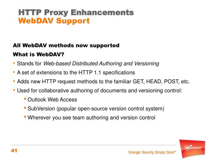 HTTP Proxy Enhancements