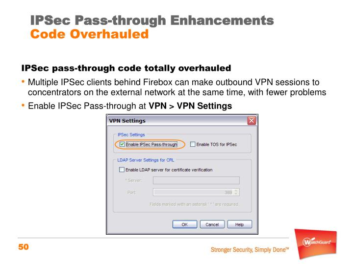 IPSec Pass-through Enhancements