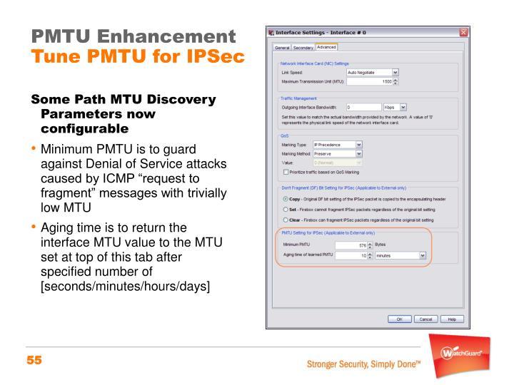 PMTU Enhancement