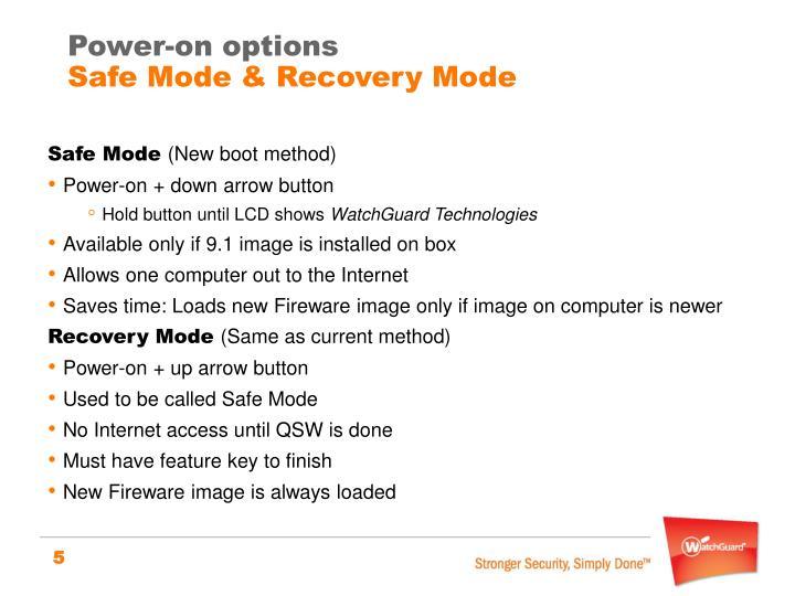 Power-on options