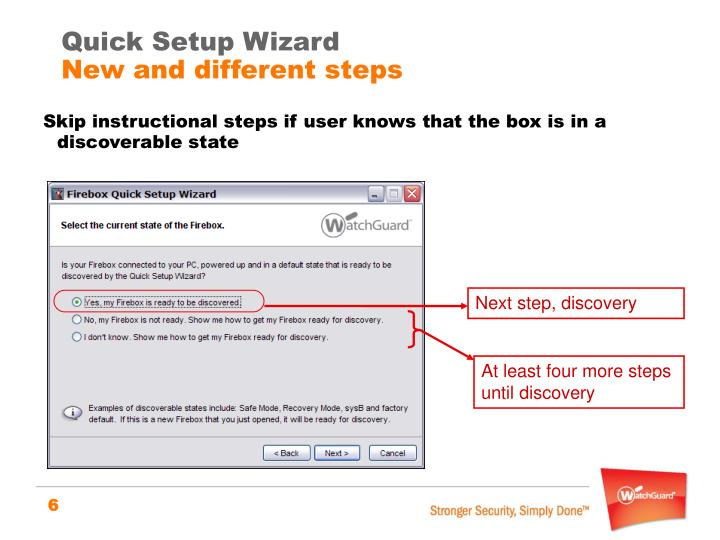 Quick Setup Wizard